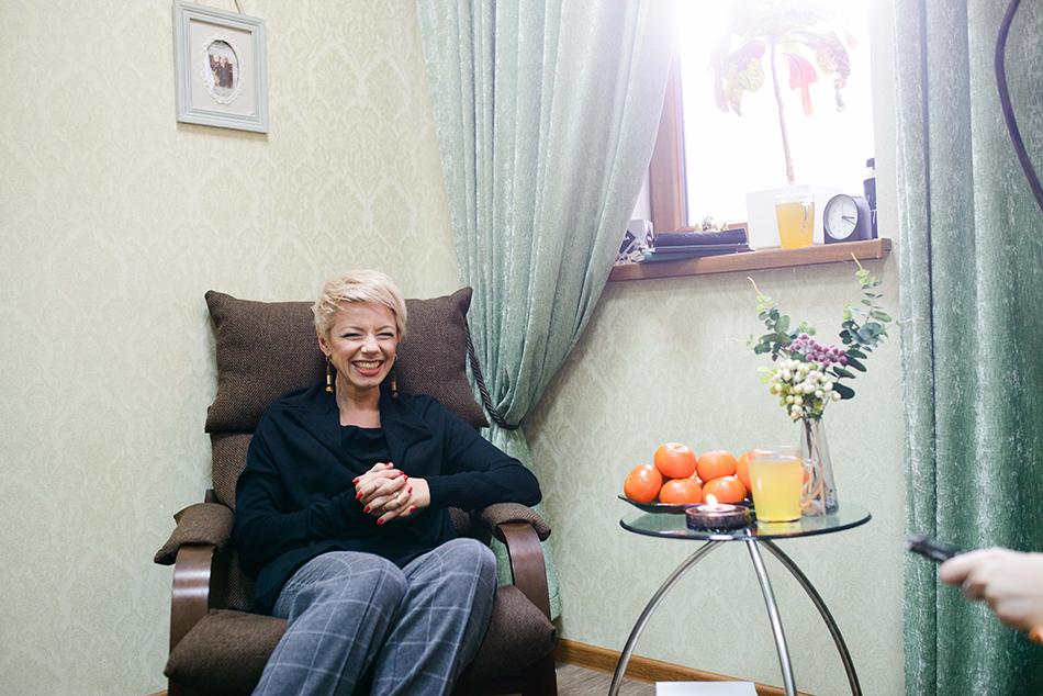 В своем рабочем кабинете Лилия Горелая создала располагающую к общению атмосферу
