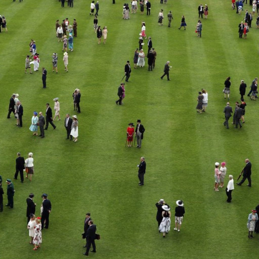 Elevated View Of The Queen's Garden Party