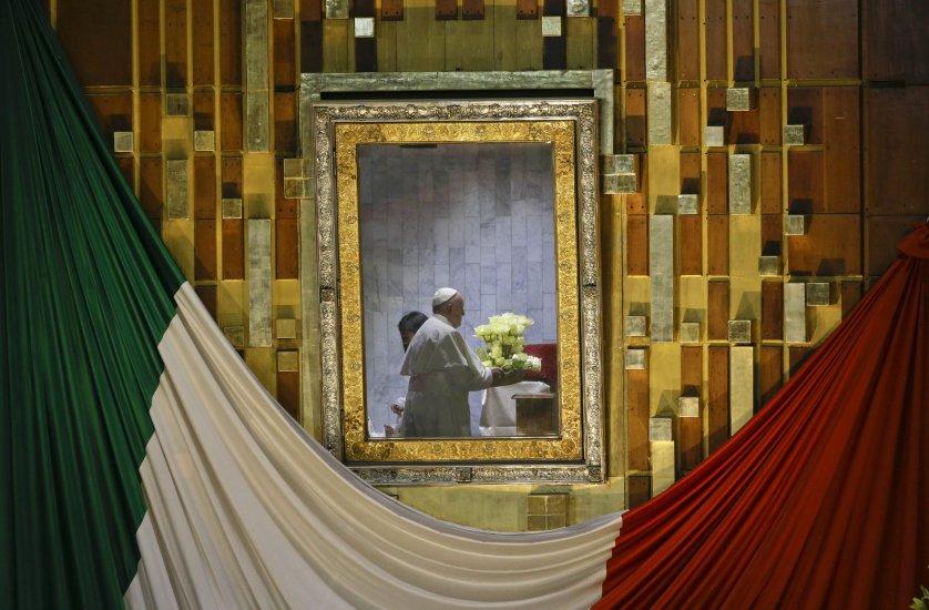 APTOPIX Mexico Pope