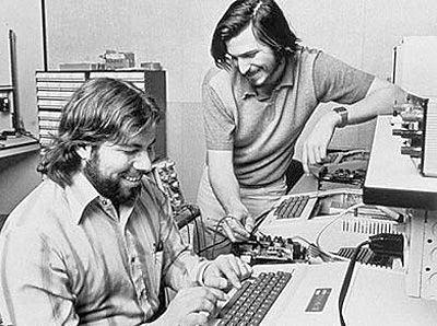 Стів Возняк і Стів Джобс в гаражі, 1975 рiк