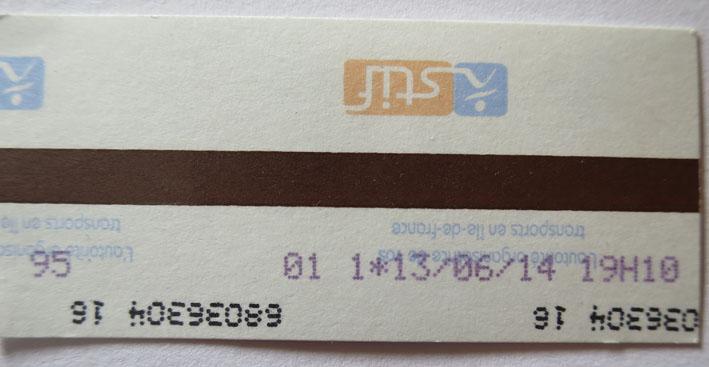 Билет на метро в Париже