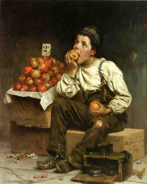 Чистильщик обуви и продавец яблок, Джон Джордж Браун