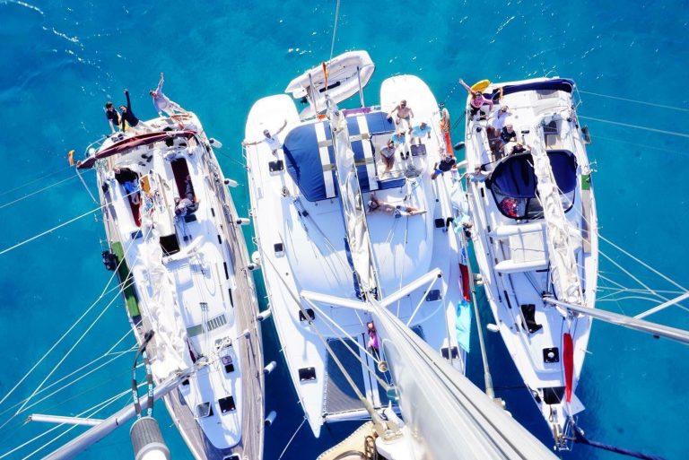 Фото с мачты яхты, сделанное Кириллом Соляром