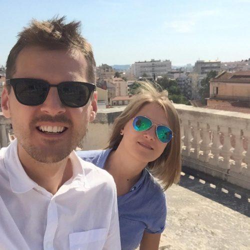 Роман Стельмах с женой
