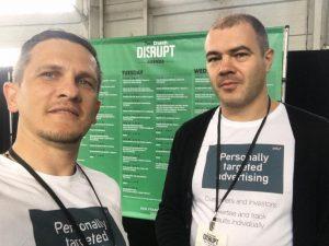 Владимир Михалко и Дмитрий Лисицкий на конференции TechCrunch Disrupt