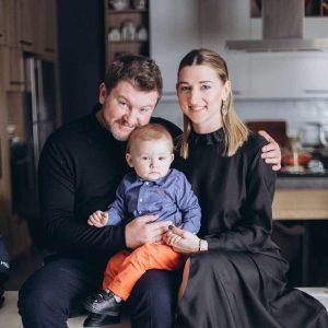Борисов с семьей