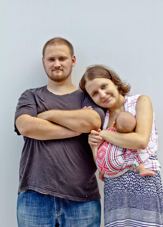 Кирилл Брагин с семьей