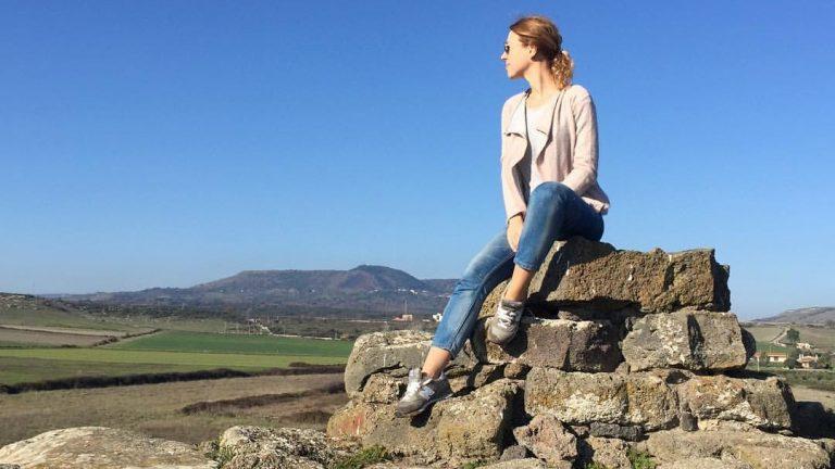 Юлия Савостина на Сардинии
