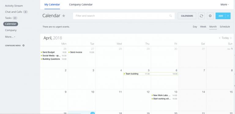 Сотрудники компании активнее всего пользуются встроенным в «Битрикс24» календарем