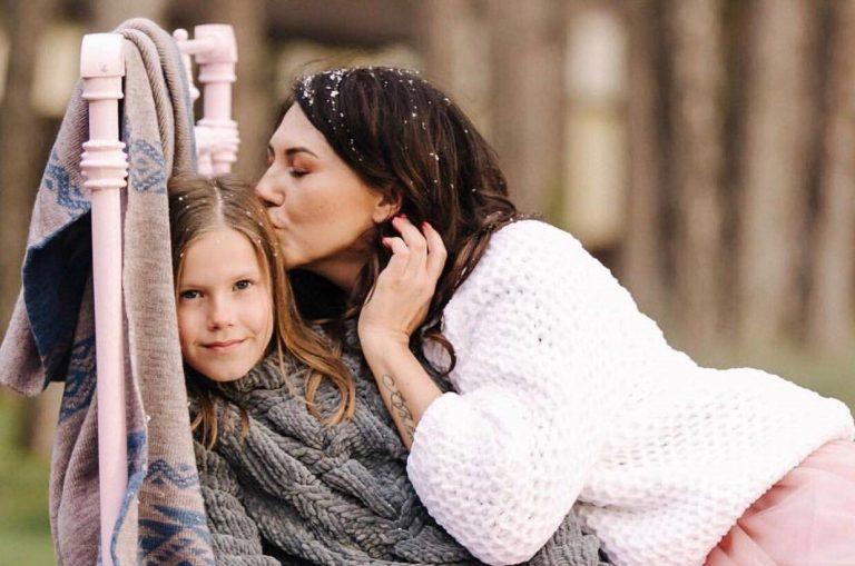 Лера Бородина со старшей дочерью