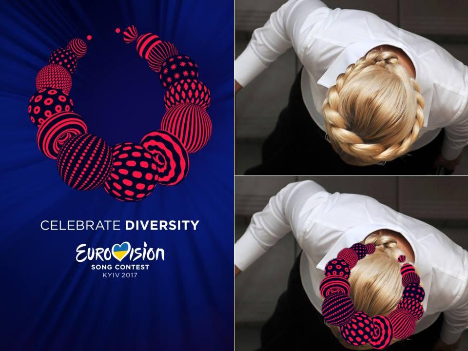 Логотип «Евровидения» и Юлия Тимошенко