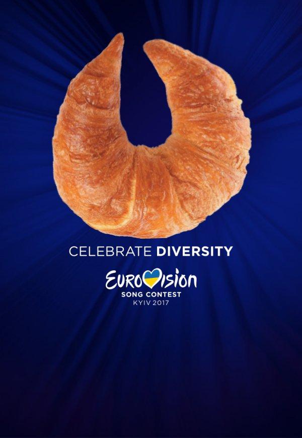 Логотип «Евровидения» и круассан