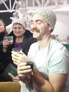 Людмила Сорока рядом с Дэвидом Эшером в Киеве, декабрь 2017
