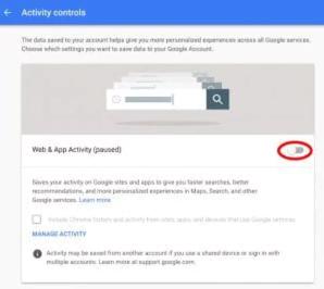 По умолчанию Google сохраняет информацию о каждом сайте, на который вы заходите и всю историю поиска