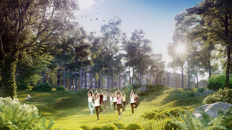 На территории жилкомплекса разобьют большой парк
