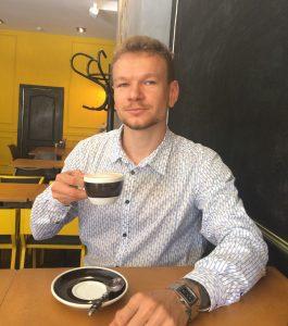 Александр Панагушин, бренд-бариста сети кофеен Pick Cup