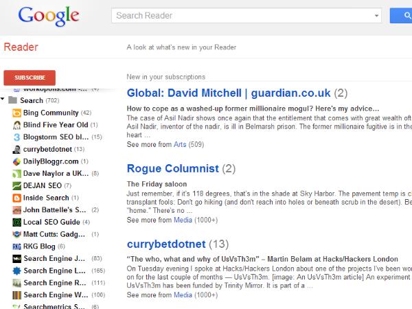 Сервис Google Reader