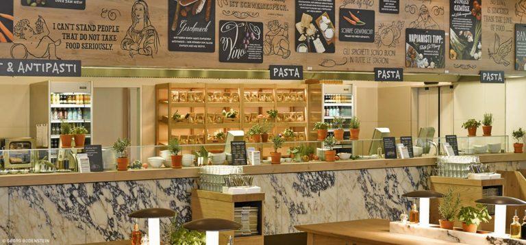 Дизайн ресторана Vapiano по проекту итальянца Маттео Туна