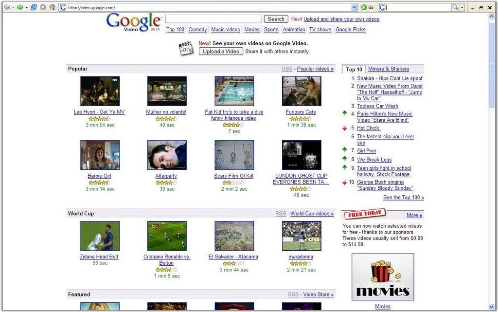 Видеосервис Google Video