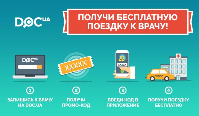 Акция Doc.ua со службой такси Uklon