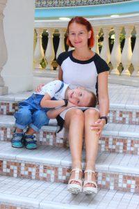 Ксения с сыном