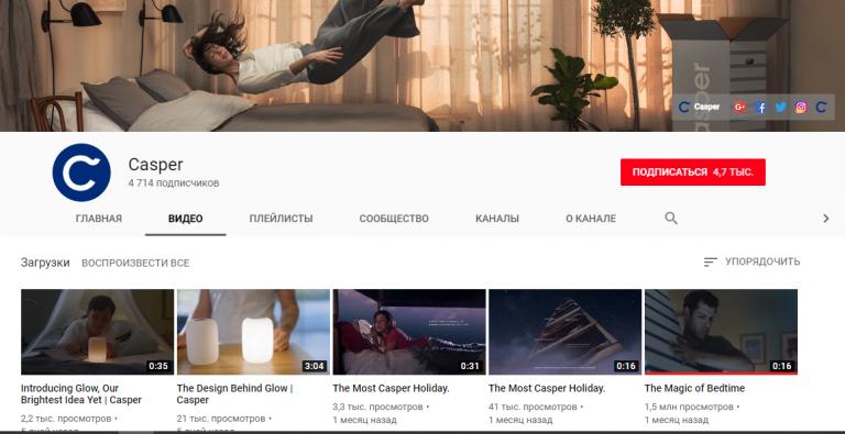 Самый активный — Youtube