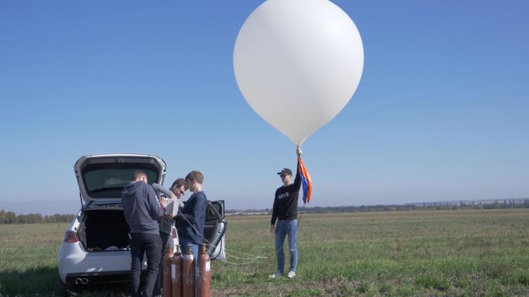 В стартапе Strato Ukraine снимают рекламные видео в стратосфере