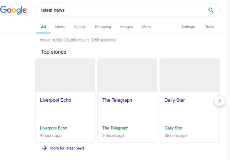 Предполагаемая поисковая выдача Google в случае принятия директивы