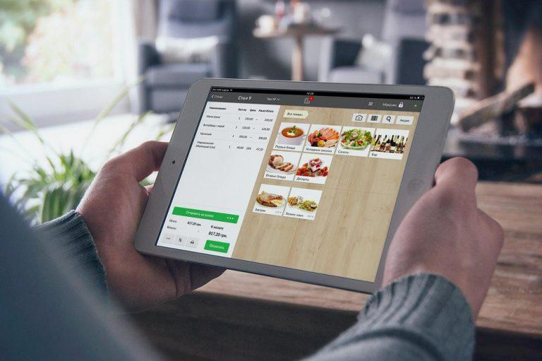 Облачная система автоматизации на планшете Poster