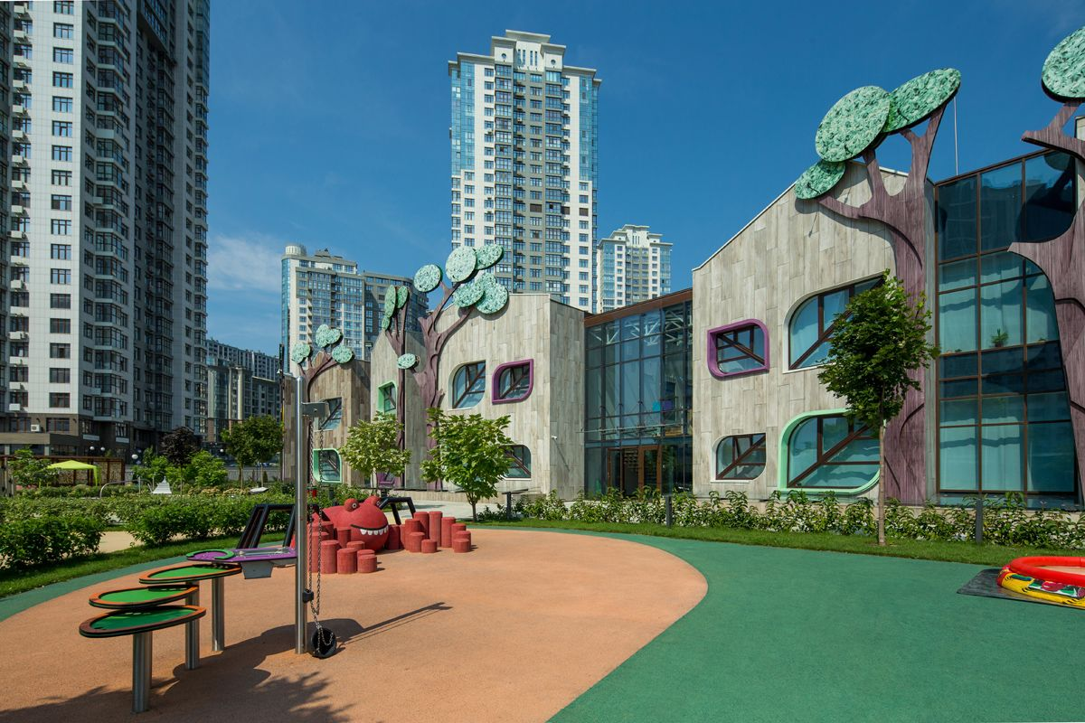 При строительстве детского сада LeapKids использовали экотехнологии