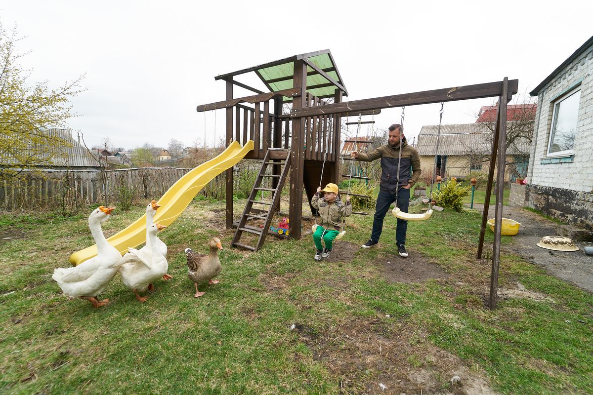 У семьи Нестеренко четыре гуся