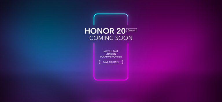 Honor 20 представят 21 мая в Лондоне