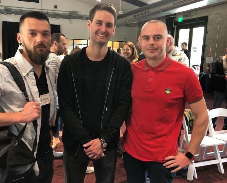 Эван Шпигель, основатель Snapchat и Александр Пасиков, CEO appflame