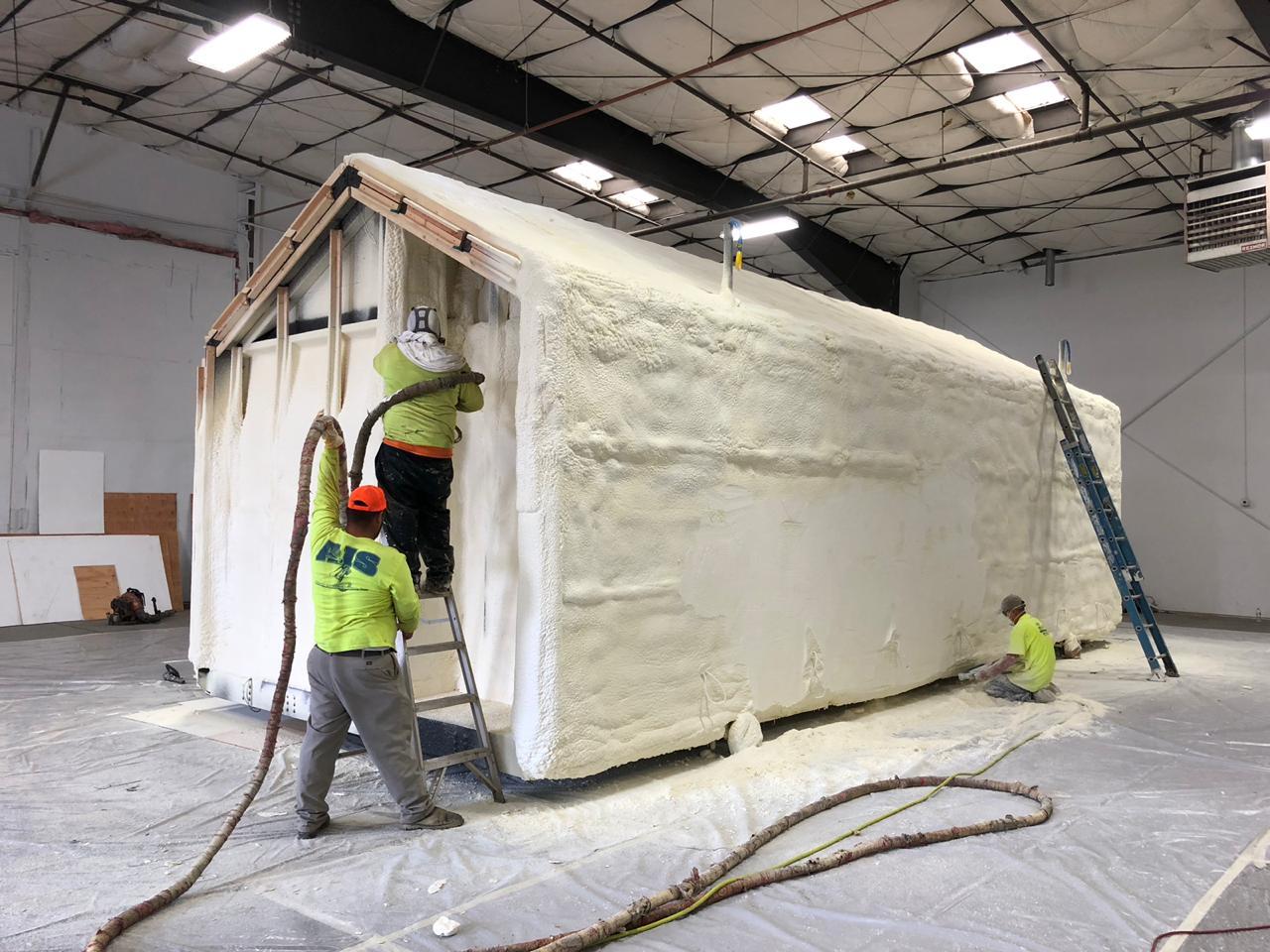 Процесс строительства прототипа дома в США