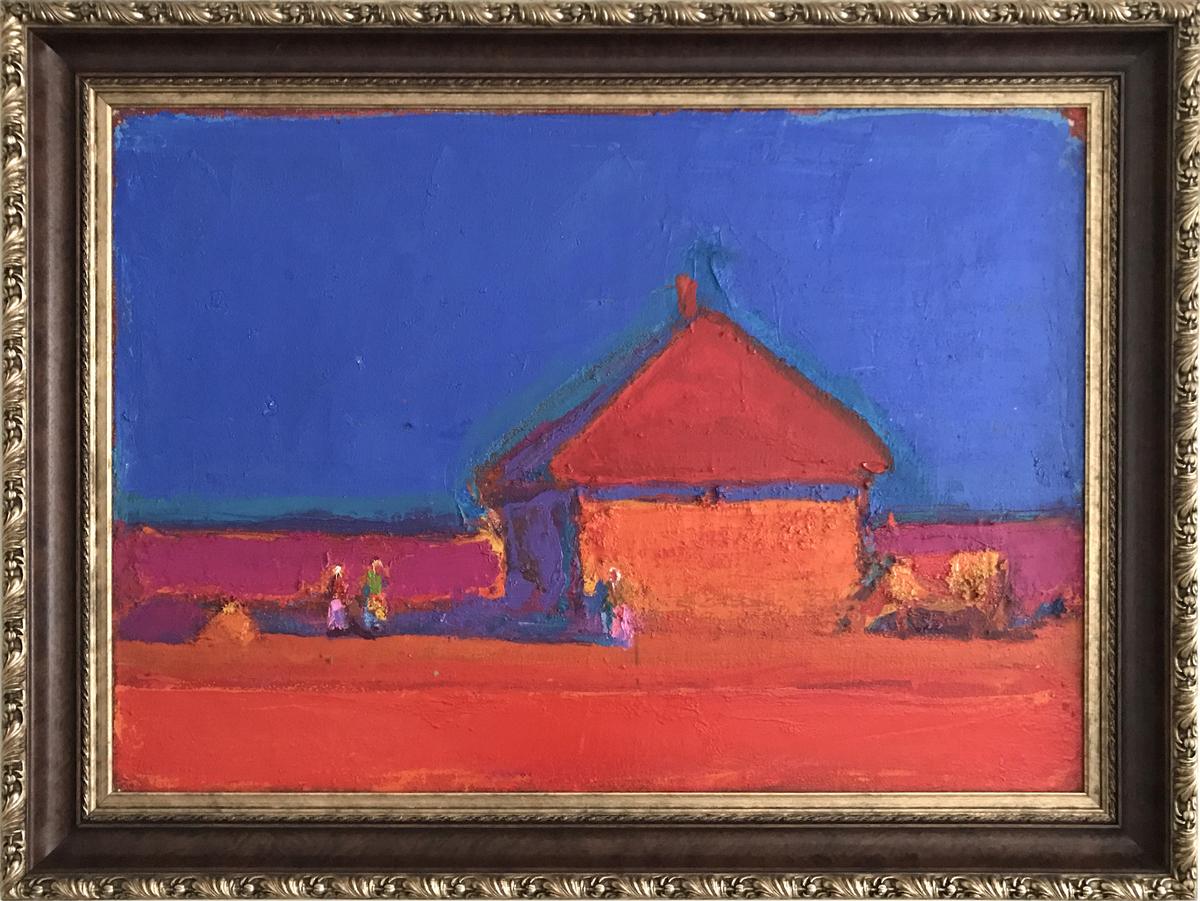 Картина Анатолия Криволапа «Хата» (1992 г.) из коллекции Игоря Абрамовича