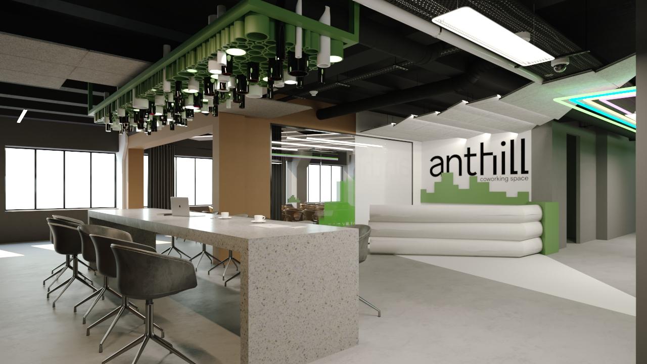 В Киеве открывают коворкинг Anthill Space с «умными» офисами и видеозоной. Рассказываем, что еще там будет