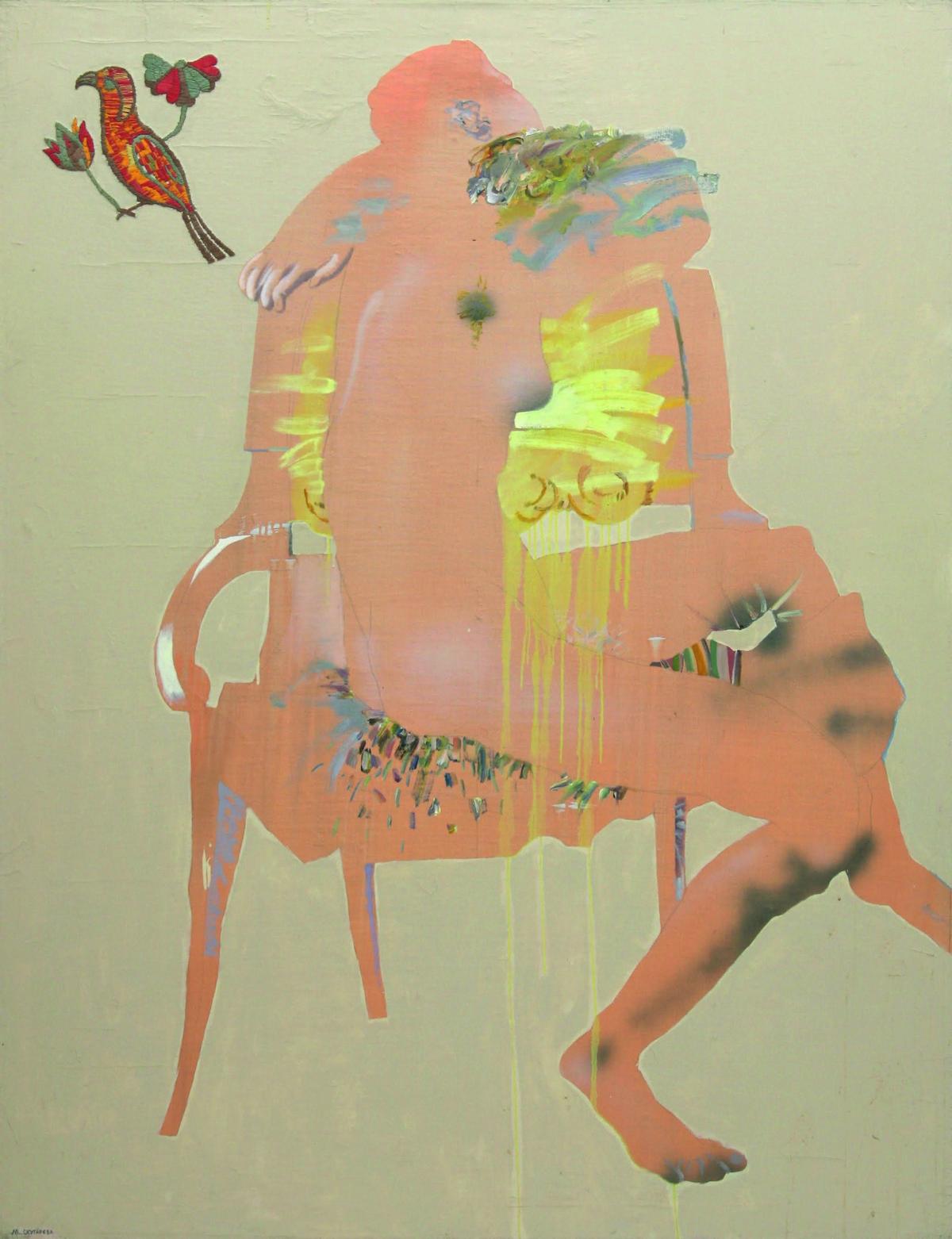 Картина Марины Скугаревой «Попугай» (1992 г.) из коллекции Игоря Абрамовича