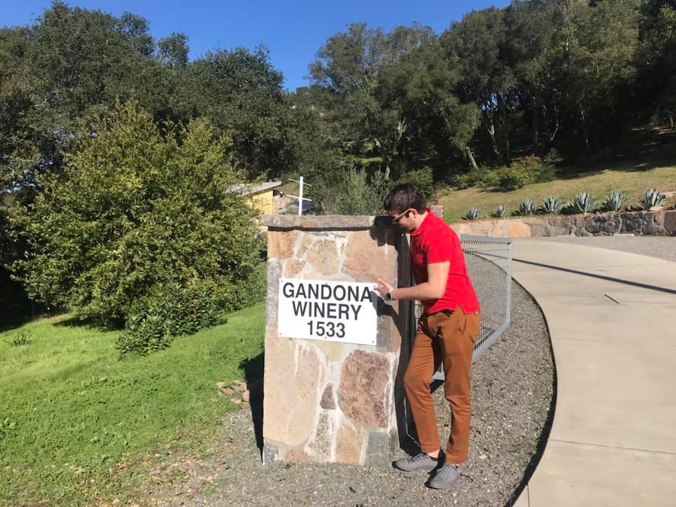 Вадим Роговский на винодельне в Калифорнии