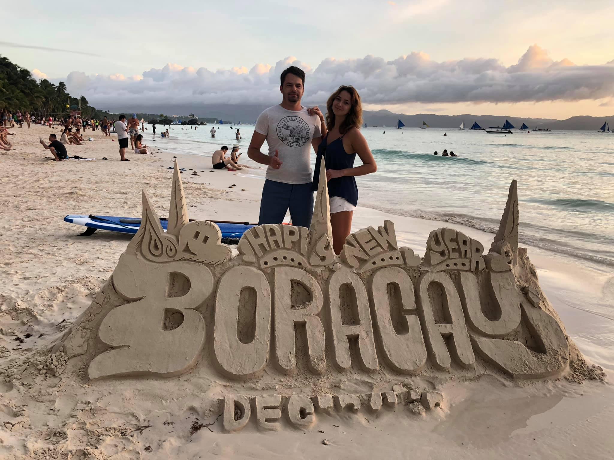 Вадим Роговский с женой на Филиппинах