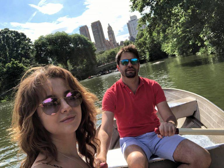 Вадим Роговский с женой в Нью-Йорке