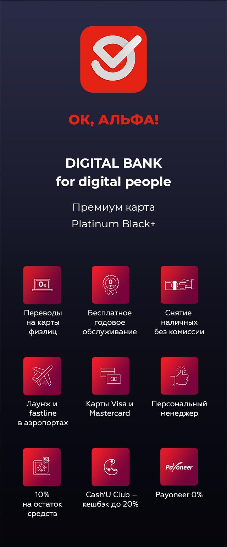 Alfa Bank инфографика