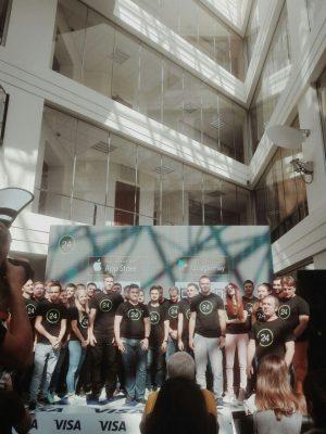 Команда, которая занималась обновлением приложения Приват24 во главе с Сергеем Харитичем