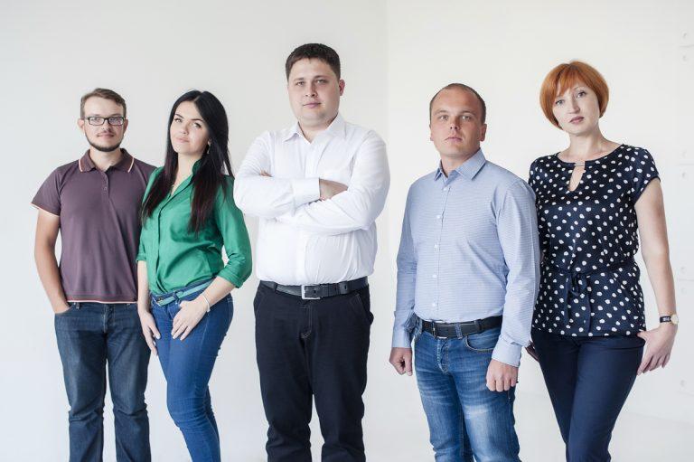 Борис с командой юридической фирмы в 2014 году