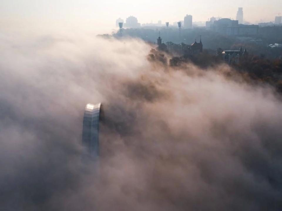 Задымленный Киев