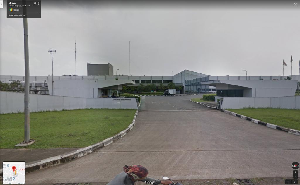 Здание Fujitsu в Западной Яве, Индонезия. Фото: Google Maps