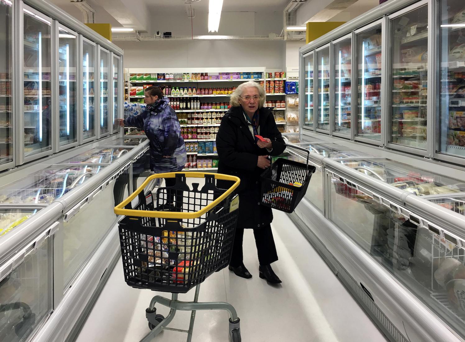 Оборудование компании «Айсберг» в исландском супермаркете