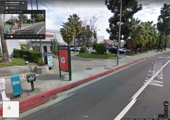 Картинки из прошлого при панорамном просмотре в Google Картах