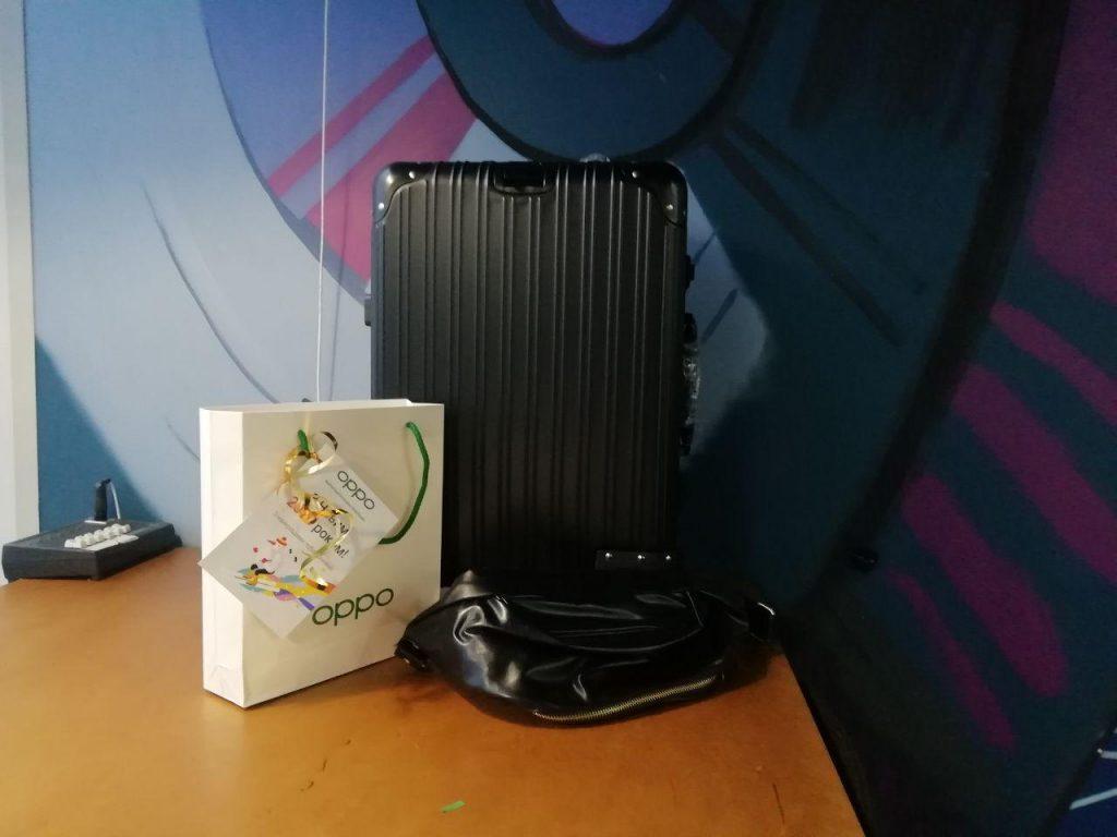 Чемодан и поясная сумка