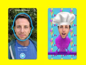 Функция Cameos в Snapchat