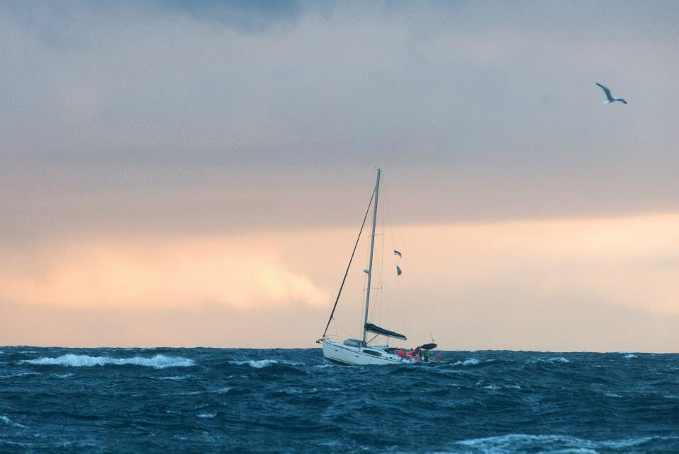 Яхта в море, фото с Facebook Александра